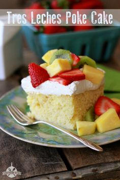 Tres Leches Poke Cake - easy and delicious