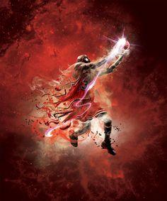 Design by Adam Larson  #Design #Illustration #Sports #Basketball #NBA2K #Jordan #AdamLarson