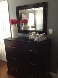 Mirror over the dresser