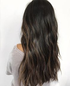 Long Wavy Ash-Brown Balayage - 20 Light Brown Hair Color Ideas for Your New Look - The Trending Hairstyle Brown Hair Shades, Brown Ombre Hair, Brown Hair Balayage, Light Brown Hair, Brown Hair Colors, Hair Highlights, Dark Hair With Lowlights, Bayalage, Baylage On Dark Hair