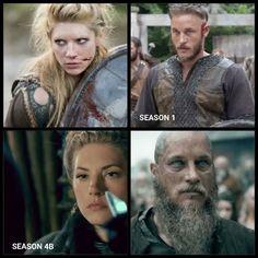 Vikings ~ Ragnar Lothbrok  and Lagertha