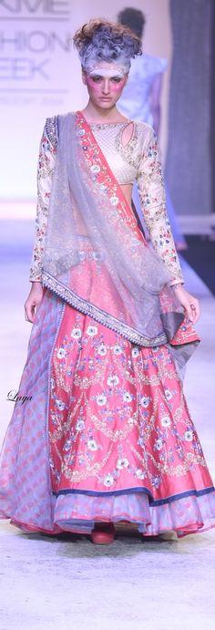 Anju Modi Summer/Resort 2014❋Laya Hi Fashion, India Fashion, Asian Fashion, Womens Fashion, Lehenga, Saree, Lakme Fashion Week, Indian Designer Wear, Bollywood Fashion