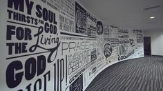 typography wall installation