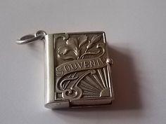 Vintage Antique Silver Book Charm Locket by BraceletstoBuckles
