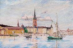 Rikard Lindström (1882-1943): Riddarfjärden, Stockholm