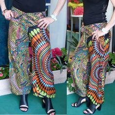 Pantaloni larghi a fantasia in cotone  Taglia s/m  https://www.lorcastyle.it