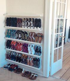 shoe storage shoes storage ideas, shoe organization for small space, shoes closet, cheap storage ideas Closet Shoe Storage, Diy Shoe Rack, Shoe Storage Cabinet, Shoe Closet Organization, Diy Shoe Organizer, Shoe Storage Ideas For Small Spaces, Wall Shoe Rack, Storage Cabinets, Shoe Rack For Small Closet