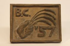 Class of 1957 bronze time capsule cover Class Design, Time Capsule, Bronze, Display, Cover, Floor Space, Billboard
