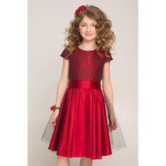 Нарядное бордовое платье для девочки