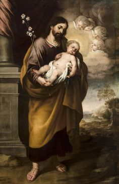 Joseph with the Child, 1684 Catholic Art, Religious Art, St Joesph, Jesus Father, Christian Warrior, Baroque Painting, Pictures Of Jesus Christ, Christ The King, Biblical Art