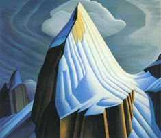 A Canadian landscape by group of seven artist Lawren Harris.