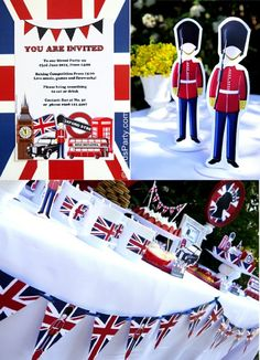 Printable UK London Party Invitataions and Decor