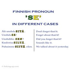 Join my online course Case by Case. This course comes with a real person behind it all, on a mission to help you understand one of the most important features about the Finnish language - the grammatical cases!