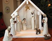 Nativity Creche BARN for Willow Tree - NEW
