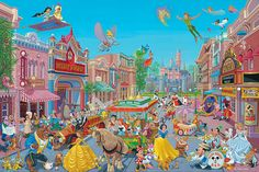 The Happiest Street on Earth: By Manuel Hernandez - - - I have this framed print and love it!