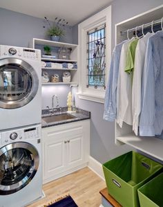 space saving laundry ideas | laundry rooms need not be very large spaces even if you have a big ...