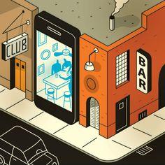 editorial illustration; device concept