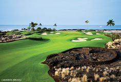 #BigIslandAttraction - Kohanaiki Golf and Ocean Club, an 18-hole private golf course with six oceanfront holes designed by Rees Jones and Steve Weisser located in Kailua Kona, HI. For more information visit their website http://kohanaiki.com/ or call tel.#s (808) 329-6200. #LuxuryBigIsland