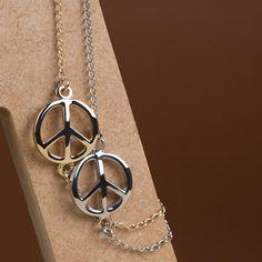 Pulseira Símbolo da Paz!  #pulseira #paz #e #amor #dourado #prateado #alegria #fofo #cute #acessorio