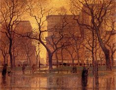 Madison Square After the Rain, by Paul Cornoyer
