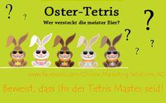 #Ostern steht vor der Tür. Mit unserem Oster-Tetris auf #Facebook habt Ihr jetzt schon Gelegenheit, zu beweisen, dass Euch im Ostereier-Verstecken niemand etwas vormachen kann!  Seid Ihr der Tetris-Master? Hier geht's zum Spiel: https://www.facebook.com/Online.Marketing.Solutions.AG/app_269386459902396