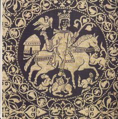 """Battle of Legnano 1176 The Empire lead by Frederick I """"Redbeard"""" against the single city of Milan Milan defeated the empire. Medieval World, Medieval Art, Friedrich Ii Staufer, Medieval Embroidery, Textile Pattern Design, Medieval Tapestry, Textile Museum, Early Middle Ages, Rugs"""