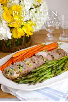 Leek Spinach Stuffed Pork Loin Recipe For Easter Or Spring Dinner Party