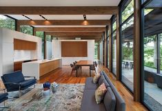 Image 4 of 39 from gallery of Woodland House / ALTUS Architecture + Design. Photograph by ALTUS Architecture + Design Minnesota Home, Minneapolis Minnesota, Modern Glass House, Woodland House, Commercial Architecture, Level Homes, Home Interior, Home Design, Architecture Design