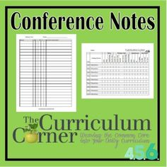 Conferring Forms for Reading Workshop