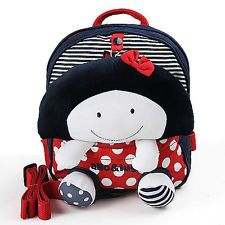 Baby Kid Backpack Toddler Handcrafted Doll Bag with safety Harness K0213-2