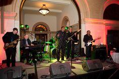 Reception bands get everyone up and dancing! Photo by Randi. #ReceptionMusic #Weddings