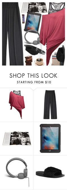"""""""PJs All Day"""" by pokadoll ❤ liked on Polyvore featuring Griffin, Urbanears and RED Valentino"""