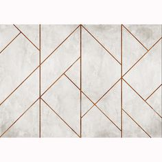 A unique take on the ever popular concrete trend, Coordone's La Coupole Mural features geometric concrete triangular tiles in a variety of sizes that dissect the design, copper or brass grouting outlines these tiles. Feature Wall Design, Wall Panel Design, Wall Decor Design, Decorative Wall Panels, 3d Wall Panels, Wall Fires, Tile Murals, Wallpaper Murals, Vinyl Wallpaper