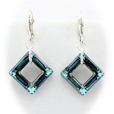 Bermuda Blue Square Crystal Sterling Silver Leverback Earrings Made with Swarovski Elements Earrings by Joyful Creations http://www.amazon.com/dp/B00CNJZBKU/ref=cm_sw_r_pi_dp_kAjQub1RGHR3M