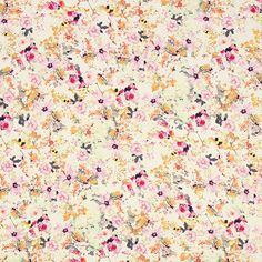 Viscose jersey Sea of flowers - Jersey Knit Fabricsfavorable buying at our shop