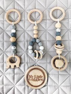 CUSTOM KIMBAHANNE x4 bebé Deluxe de madera y silicona