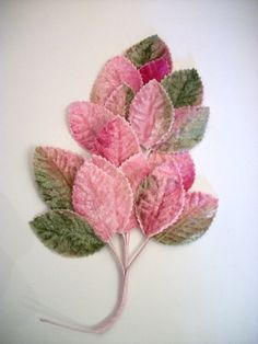 millinery - velvet leaves