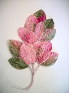 Beautiful velvet millinery leaves