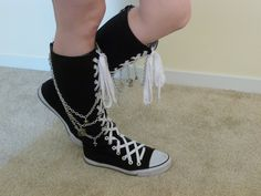 Charmed Converse Knee Highs by ChainedArtist on Etsy, $150.00