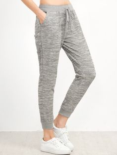 Shop Grey Drawstring Waist Casual Pants online. SheIn offers Grey Drawstring Waist Casual Pants & more to fit your fashionable needs.