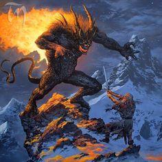 Ted-Nasmith-Gandalf-y-el-Balrog-en-lo-Alto-del-Celebdil-Batalla-de-la-Cima-copia.jpg (880×882)