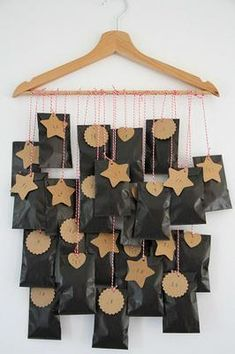 Clever advent calendar hanging