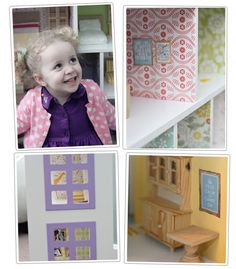 Print off picture images to hang on the wall for dollhouse
