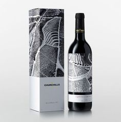 churchill's wine packaging design