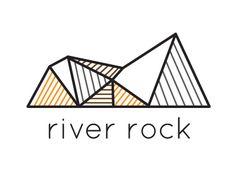 River Rock Logo Concept designed by Rachel Kapisak. Connect with them on Dribbble; Rock Chic, Hard Rock, Rock Bands, Rock And Roll, Foundation Logo, Lab Logo, Building Logo, Hotel Logo, Real Estate Logo