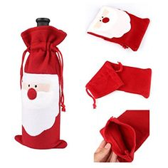 Christmas Bottole Cover,DiDaDi [1 PCS] Santa Claus Wine Champagne Bottle Cover Bags Kitchen Dinner Table Hotel Home Party Christmas Decorations