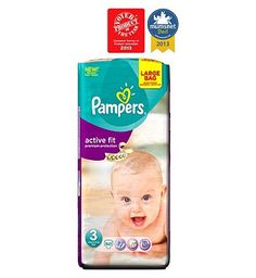 Pampers Active Fit Nappies Size 3 Large Bag - 60 44 Advantage card points. Pampers Active Fit 3-Way Fit Nappies Size 3 Large Bag - 1 x 60 Nappies. New Pampers Active Fit 3-Way Fit nappies with DryMax revolutionary technology is Pampers driest ever n http://www.MightGet.com/february-2017-1/pampers-active-fit-nappies-size-3-large-bag--60.asp