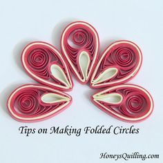 Tips on Making Paper Quilled Folded Circles for Malaysian Flowers - Tutorial by Honey's Quilling