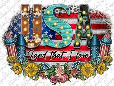 Love Png, Vinyl Signs, Fireworks, American Flag, 4th Of July, Stencils, Cricut, Clip Art, Heat Press
