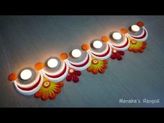 Easy Border Rangoli Design For Diwali Rangoli Side Designs, Rangoli Designs Simple Diwali, Simple Rangoli Border Designs, Rangoli Simple, Rangoli Designs Latest, Free Hand Rangoli Design, Small Rangoli Design, Rangoli Patterns, Rangoli Ideas